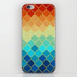 Golden geometric pattern XVII iPhone Skin
