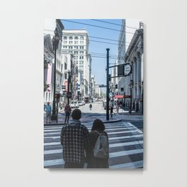 San Francisco street lines Metal Print