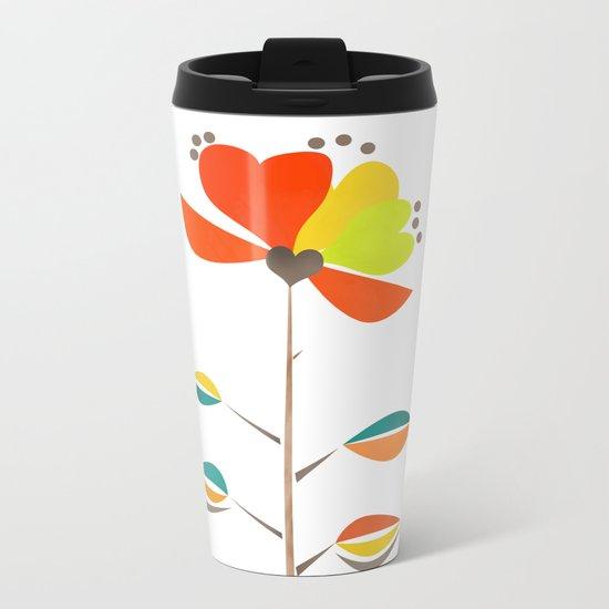 Fantasy . Flower . Metal Travel Mug