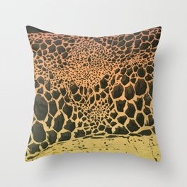 volcanic cells Throw Pillow