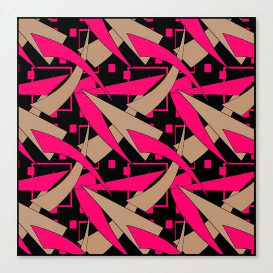 Creative abstract pattern . Geometric shapes .4 Canvas Print