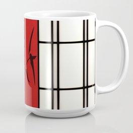 Shoji with bamboo ink painting Coffee Mug