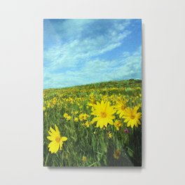 Field of Yellow Metal Print