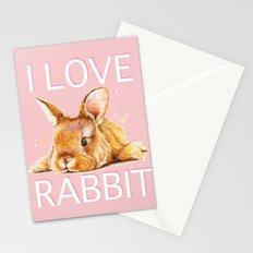 i love rabbit Stationery Cards