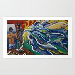 """Denpasar"" Illustration Florianne Vuillamy Art Print"