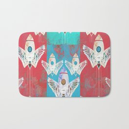 Magic Rocket Wings Space Print Bath Mat