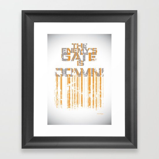 """""""The Enemy's Gate is Down!"""" Framed Art Print"""