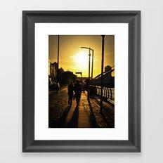 Couple's walk Framed Art Print