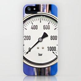 Industrial analog manometer iPhone Case