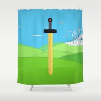 heroes Shower Curtains featuring No Heroes by Raysounds