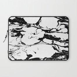 Black And White Wet Watercolour Paint Textur Laptop Sleeve