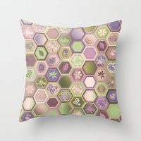 polygon Throw Pillows featuring Polygon pattern by /CAM