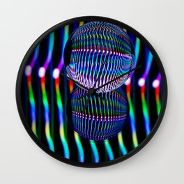 Vertical colours in the glass ball. Wall Clock