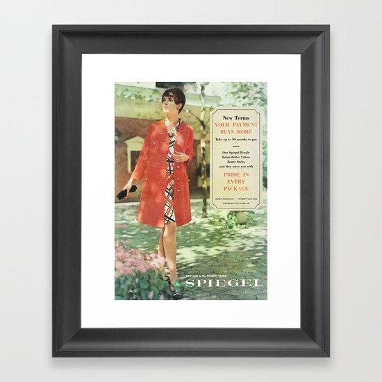 1969 - Spring SUmmer Catalog Cover Framed Art Print