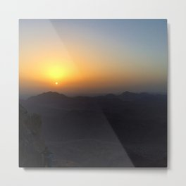 The Sunrise at Moses mountain. Metal Print