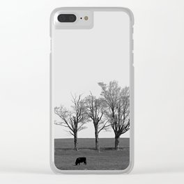 Three Trees and a Bull Clear iPhone Case