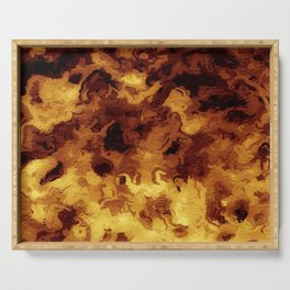 Hell Fires Burning Serving Tray