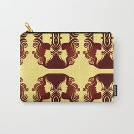 Girl's hair pattern yellow Carry-All Pouch