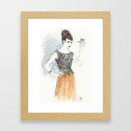 'Mary' Watercolor Fashion Illustration Framed Art Print