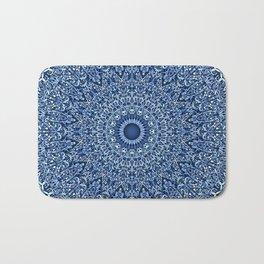 Sacred Blue Garden Mandala Bath Mat
