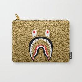 gold color bape shark Carry-All Pouch