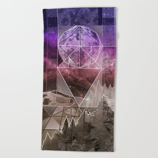 night forest 4 Beach Towel