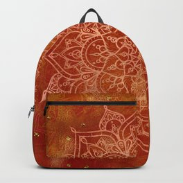 Orange Mandala Backpack