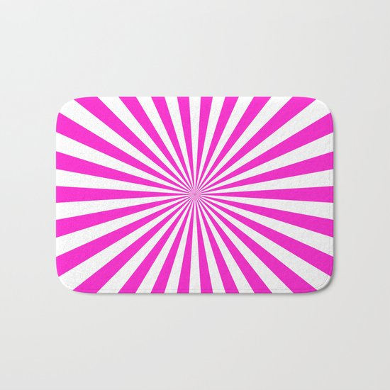 Starburst (Hot Magenta/White) Bath Mat