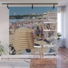 Biarritz Beach Tents Wall Mural