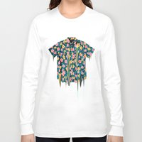 hawaii Long Sleeve T-shirts featuring HEAVY HAWAII by Showdeer