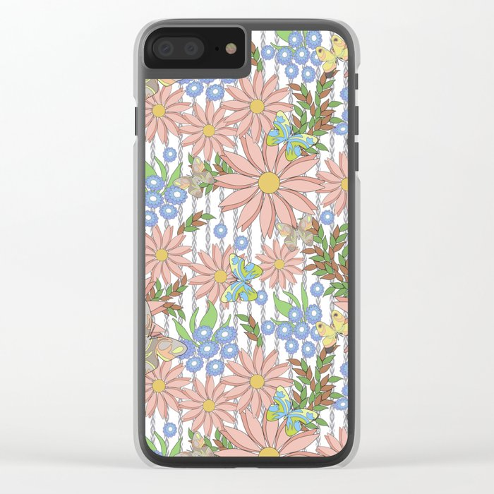 cute floral pattern Clear iPhone Case