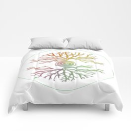 Tree of Life in Balance Comforters
