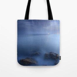 """Blue sea"". Blue hour. Tote Bag"