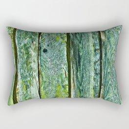 Weathered Green Fence rustic decor Rectangular Pillow