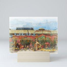 Munich Beer Festival - fairy tale train and Bierzelt Mini Art Print