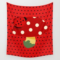 ladybug Wall Tapestries featuring ladybug by Alapapaju