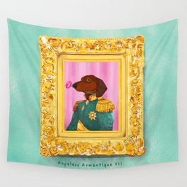 Dachshund the Romantique Wall Tapestry