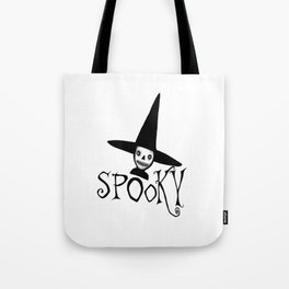 Spooky Witch Girl, Halloween Design Tote Bag