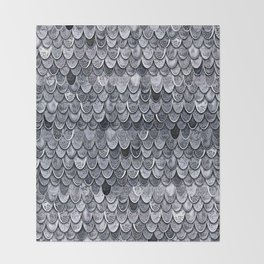 MAGIC MERMAID CLASSIC GREY by Monika Strigel Throw Blanket