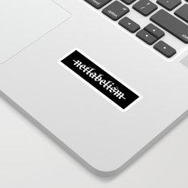 Netlabelism is dead (Black) Sticker