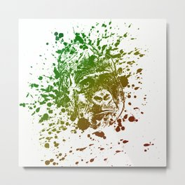 Monkey Artwork Metal Print