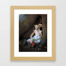 Miss Mouse under the Oak Tree Framed Art Print