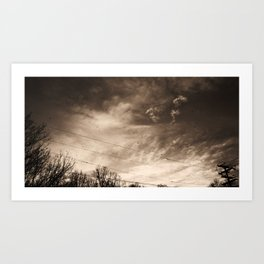 Telephone Wires & Crows Art Print
