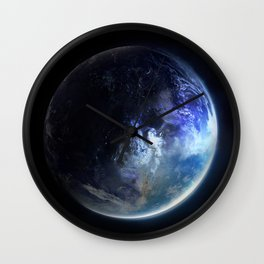 Aquamarine Marble Wall Clock