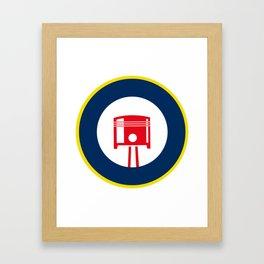 Piston roundel Framed Art Print