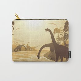 Dinosaurs on Tropical Jurassic Landscape Carry-All Pouch