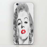 marylin monroe iPhone & iPod Skins featuring Marylin by Ticopage designs