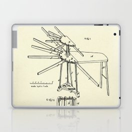 Improvement in Clothes Driers and Ironing Boards-1878 Laptop & iPad Skin