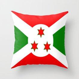 Flag of Burundi Throw Pillow