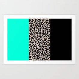 Leopard National Flag VII Art Print